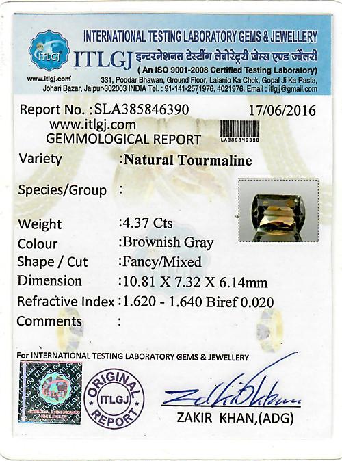 Brownish Gray Tourmaline - 4.37 carats