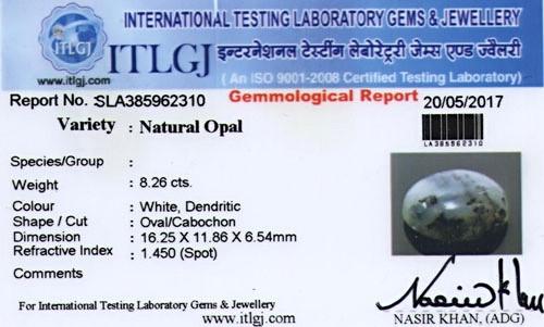 White Opal - 8.26 carats
