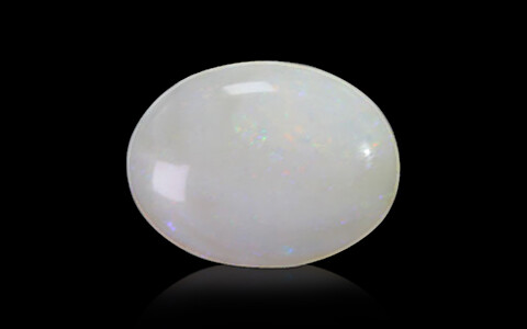 White Opal with Double Sided Fire - 3.80 carats