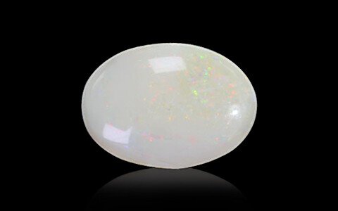 White Opal with Double Sided Fire - 3.11 carats