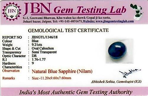 Blue Sapphire - 9.21 carats