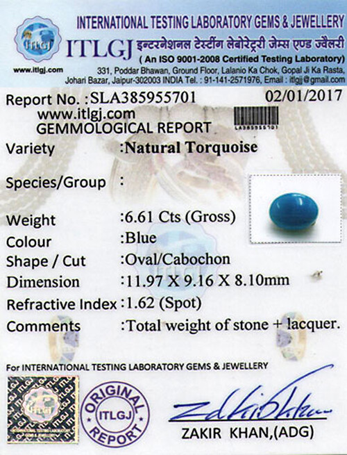Turquoise - 6.61 carats