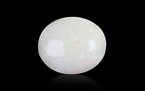 White Opal With Double Sided Fire - 3.81 carats