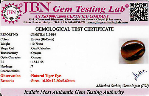 Tiger Eye - 10.70 carats