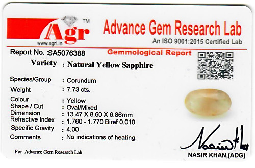 Yellow Sapphire - 7.73 carats