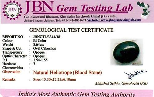 Bloodstone - 8.64 carats
