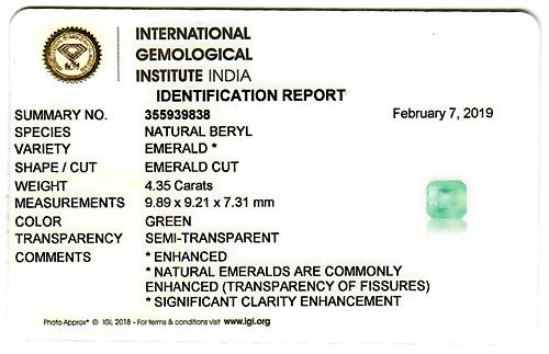 Emerald - 4.35 carats