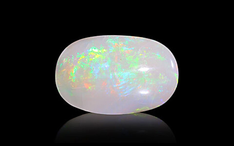 White Opal With Fire - 3.77 carats