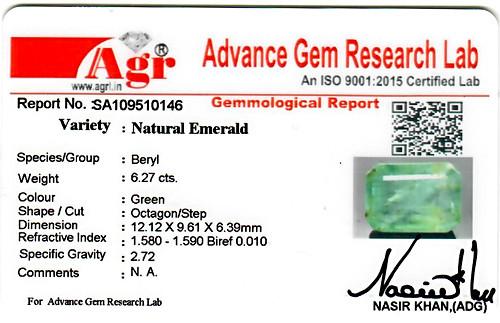 Emerald - 6.27 carats