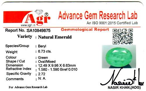 Emerald - 6.73 carats