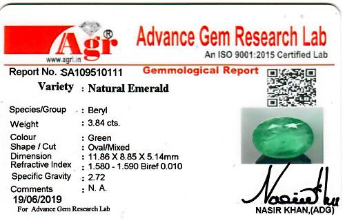 Emerald - 3.84 carats
