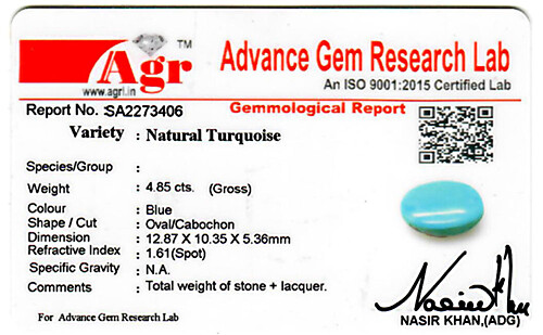 Turquoise - 4.85 carats