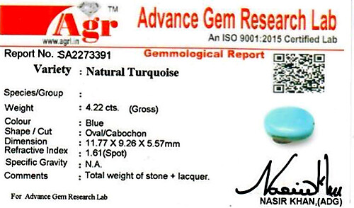 Turquoise - 4.22 carats