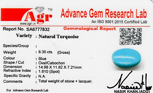 Turquoise - 8.30 carats