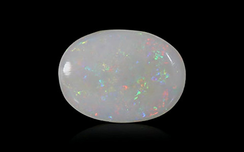 White Opal with Fire - 3.71 carats