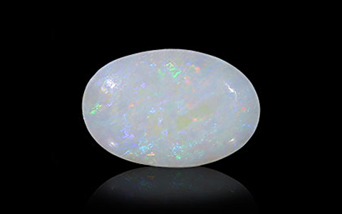 White Opal With Fire - 2.67 carats