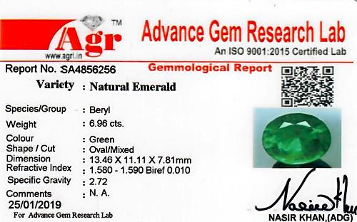 Emerald - 6.96 carats