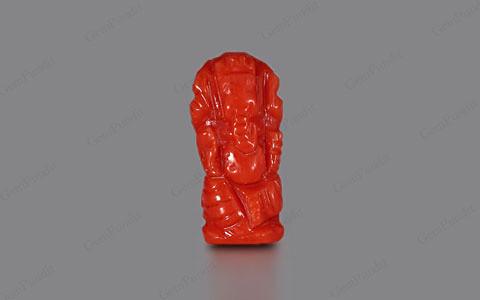 Red Coral Ganesha  - 2.78 carats