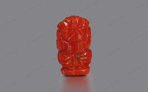 Red Coral Ganesha  - 3.80 carats