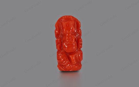 Red Coral Ganesha  - 4.38 carats