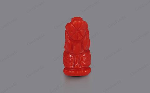 Red Coral Ganesha  - 4.35 carats