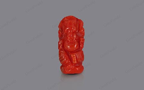 Red Coral Ganesha  - 4.98 carats