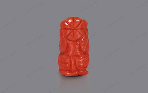 Red Coral Ganesha  - 5.42 carats