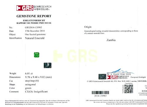 Insignificant Oil Emerald - 6.01 carats