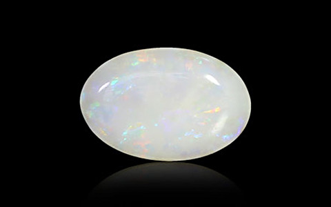 White Opal With Fire - 2.50 carats