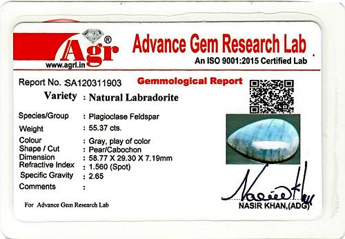 Spectrolite (Labradorite) - 55.37 carats