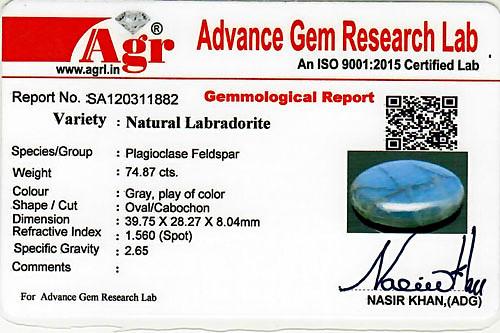 Spectrolite (Labradorite) - 74.87 carats