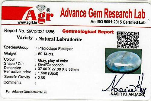 Spectrolite (Labradorite) - 69.14 carats