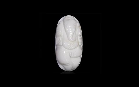 White Coral Ganesha - 7.13 carats