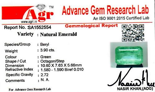 Emerald - 3.90 carats