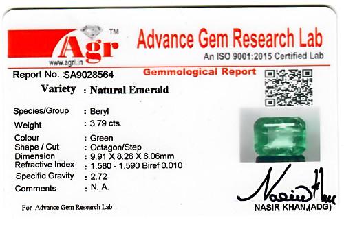 Emerald - 3.79 carats