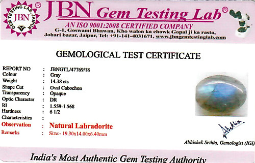 Labradorite - 14.38 carats
