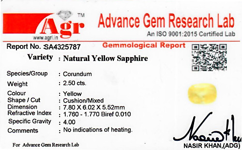 Yellow Sapphire - 2.50 carats