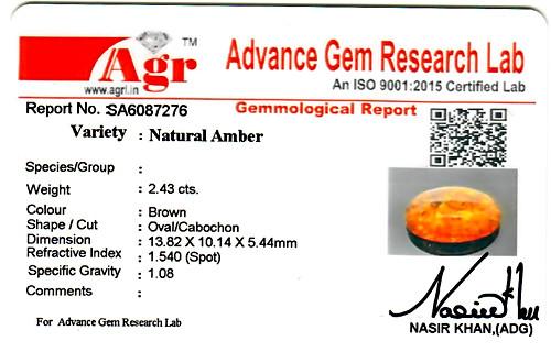 Amber - 2.43 carats