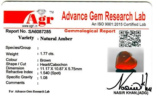 Amber - 1.77 carats