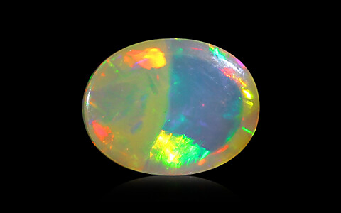 White Opal with Fire - 3.10 carats
