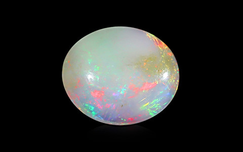 White Opal with Fire - 4.81 carats