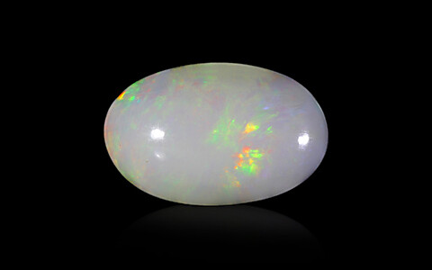 White Opal with Fire - 5.72 carats