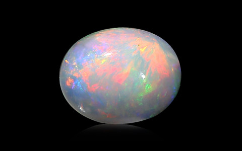 White Opal with Fire - 2.84 carats