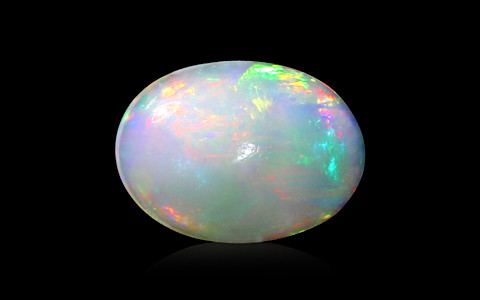 White Opal with Fire - 3.81 carats