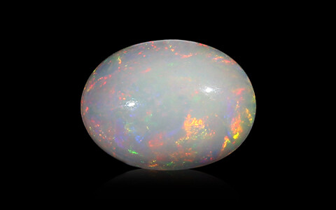 White Opal with Fire - 3.79 carats