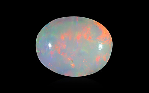 White Opal with Fire - 1.26 carats