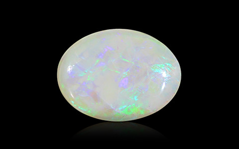 White Opal with Fire - 6.47 carats