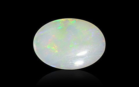 White Opal with Fire - 3.55 carats