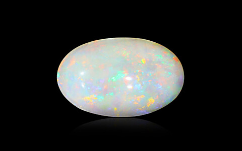 White Opal with Fire - 3.46 carats