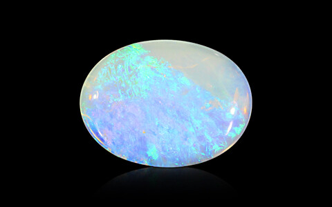 White Opal With Fire - 4.54 carats